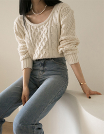 Cotton cable knit