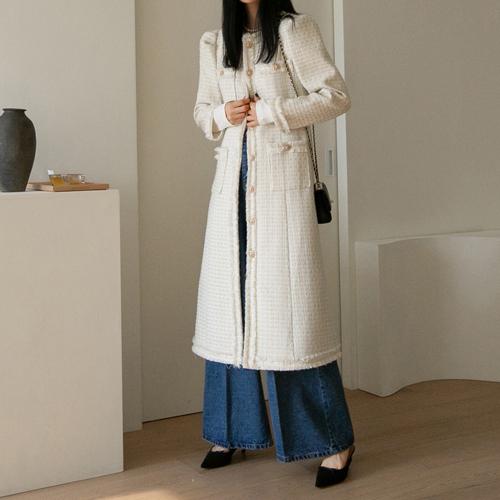 Tweed long dress